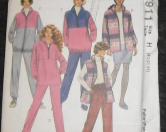 Plus Size Winter Cozy Sweaters and Pants  McCalls Pattern #7911 Fleece or Cotton