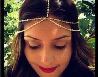 Gold Chain Headpiece