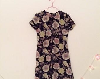 90s Daisy Print Micro Mini Dress