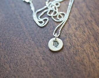 Virgo Necklace Zodiac Necklace - Gift for her September Birthday Gift Sterling Silver Virgo Pendant Tiny Virgo Small Virgo Zodiac Jewelry