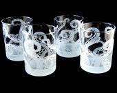 Embracing Tentacles Lowball Tumbler Glasses - Etched Glassware - Personalized Glass Barware
