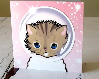 Space Kitty card