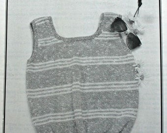 Knitting Pattern Summer Tank Top Needle Notes by Laura Young 7 - 5 Women Sizes 30 - 40 DK Weight Yarn Vintage Paper Original NOT a PDF