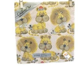 Vintage Gift Wrap Paper  | Lion Design Gift Wrap Unopened NIP