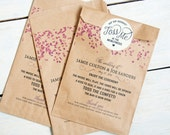 Confetti Program Bag - Kraft Paper - Alternative Wedding Program - No Fuss Program Option -  Marriage Confetti Toss - 20 Bags per pack