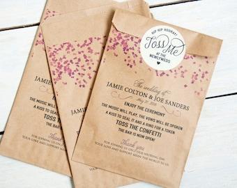 Confetti Program Bag - unstuffed  - 25 Bags per pack