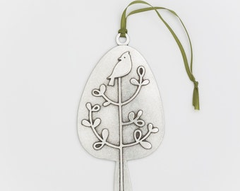 beehive birdie in a tree christmas ornament