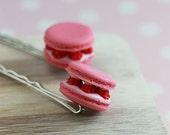 Raspberry Macaron Bobby Pin