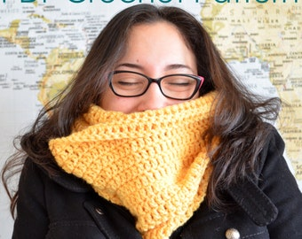 Yellow Banana Scarf - Crochet PDF Pattern