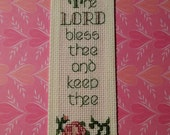 Lord Bless Thee / Hand Embroidered Bookmark
