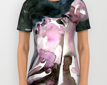 "Sexy Art Shirt, Ladies, Men's, Unisex Shirt, Watercolor Painting, Art, ""Sensual Moment"" Original Goddess Nude by Kathy Morton Stanion  EBSQ"