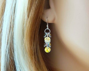 Swarovski Crystal Set (Earrings With Matching Necklace)