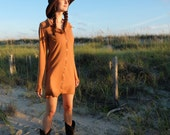 Prairie Button Front Simplicity Tunic - ( light hemp and organic cotton knit ) - Organic Hemp Tunic