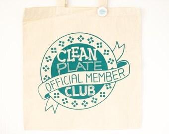 tote bag clean plate club