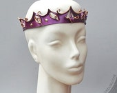 Filigree Leather Circlet in Shimmering Purple-ish Burgundy