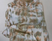 SALE hand dyed upcycled enhabiten linen cotton hoodie top