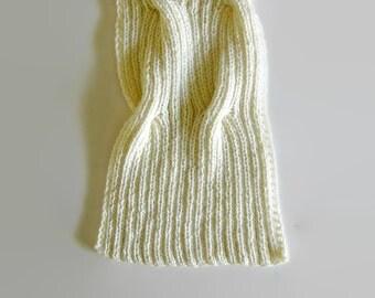 Ivory White Scarf, Hand Knit Scarf, Long Scarf, Wool Scarf, Merino Wool, Winter Scarf, Mens Scarf, Womens Scarves, Cute Scarf, Wrap Shawl