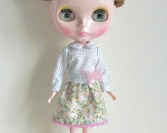 Lazy Sunday outfits set for Blythe doll