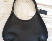 Small Vintage Black Leather Coach Purse/Shoulder Bag – Excellent Condition