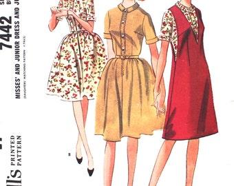 Shirtwaist Dress or Jumper Bust 32 McCalls 7442