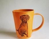 Dog Mug, Made to Order, Handmade Mug, Dog Coffee Cup, Dog Lover Mug, Labrador Retriever Mug, Dog Person Mug, Dog Illustration