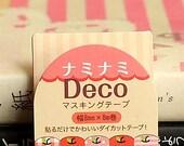 Japanese Kawaii Slim NamiNami Die-cut Masking Tape - Apple