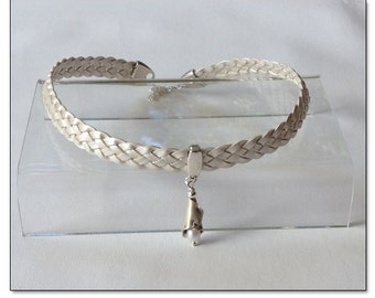 Pearl Necklace Leather Collar Choker BDSM Collar Submissive BDSM Daytime Slave Collar BDSM Jewelry