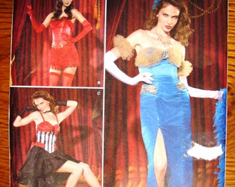 Simplicity 2535 Misses' Costume Pattern Uncut Dress Burlesque Dancer Show Girl Barmaid Western Saloon Girl Lounge Singer Costume