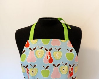Full Apron - Small - Pears & Apples (with Long ties)