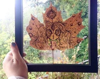 Leaf Goddess pen and ink Drawing #2