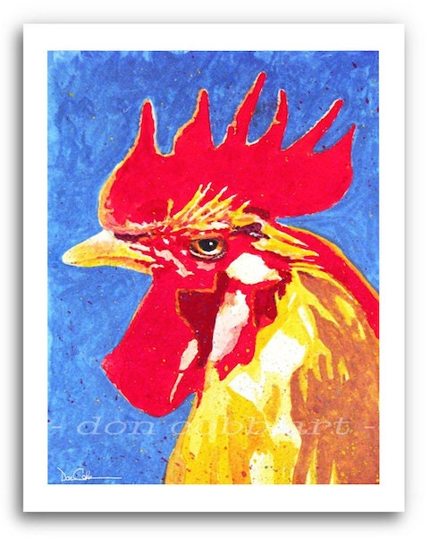 Rooster Pop Art Chicken Art Rooster Poppa Prints