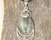 Seraphinite Necklace - Serefina Necklace - Seraphinite Jewelry - Serefina Jewelry - Seraphinite Pendant - Angel Stone - Peridot