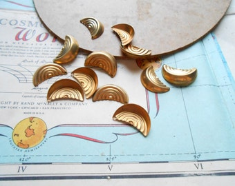 8 pc vintage decorative charms - old new stock vintage jewelry making charms
