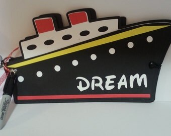 Disney Autograph Book Cruise Ship with Sharpie Handmade Character Boy Girl