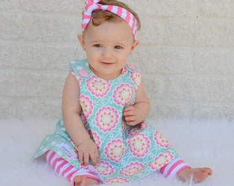 Floral all season swing top, for infants and toddlers