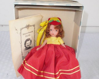Nancy Ann Storybook Doll Autumn 92 Bisque Mint in Box with Brochure