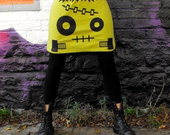 Frankenstein Skirt Halloween Costume Frankenstein Monster Skirt Horror Punk Skirt Mini Skirt T Shirt Cartoon Clothing Frankenstein Costume