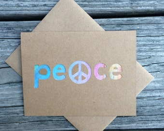 Peace greeting card with Peace Sign