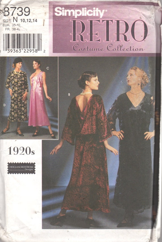 Simplicity 8739 Misses 1920s Dress Pattern Great by mbchills