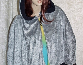 Cape with Hood Gray Cloak Handmade