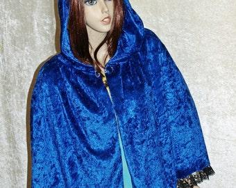 Blue Cape Cloak Handmade