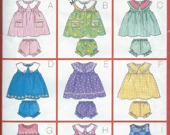 Butterick 5495 Toddlers' Dress, Panties and Jumpsuit - Size 1-2-3-4 - Uncut Pattern