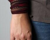 Marsala Bracelet, Brown Bracelet, Wrap Bracelet, Wife Gift, Gift Mom, Gift Sister, Womens Bracelet, Gift for Her, Bracelets for Women