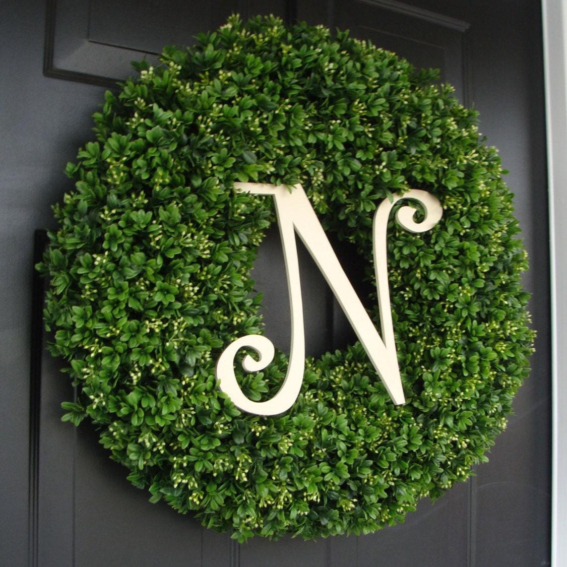 Custom Artificial Boxwood Wreath Outdoor Year Round Door