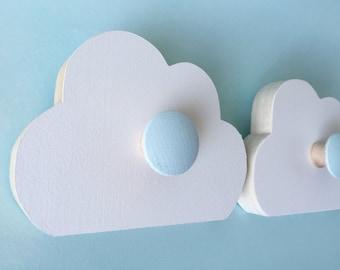 Cloud Wall Hook, Room Decor,  Aqua Blue,  Kids Decor, Cloud Nursery, Cloud Hanger, Eco-friendly
