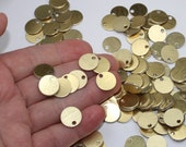 "Gold Stamping Blanks 10 Or More 1/2"" (12.90mm) 20 Gauge (0.80mm) Brushed Gold Aluminum Discs Shiny Texture Charms Lightweight Metal Stamping"