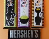 6 Spooky Halloween Candy Bar Wraps / Hershey Bars / Party Favors / Special Treat / Party Treat / Trick or Treat / Neighbor Gifts