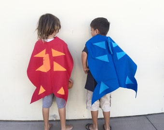 Red Fish, Blue Fish Capes, Halloween Costume or Dress Up Cape for all ages
