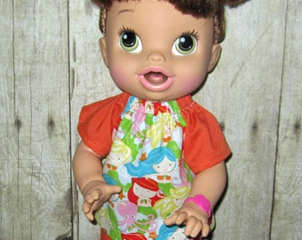 Corolle Tidoo, Corolle Calin, Doll Clothes,  Baby Alive, All Gone, Doll Clothes  12 or 13 inch Doll Clothes, Mermaids Short and Top Set