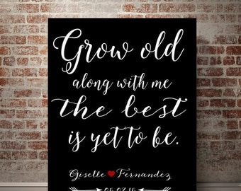 Christmas gift boyfriend Christmas gift for girlfriend Grow old with me Chritmas Gift for wife Christmas gift for husband Personalized Gift